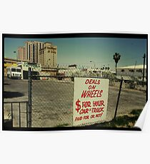 Deals on Wheels in Kodachrome Poster