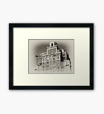 New York City Building, old sepia postcard Framed Print