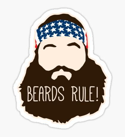 Beards Rule Sticker