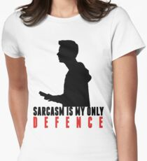 Stiles Stilinski - Sarcasm is my only defence Womens Fitted T-Shirt