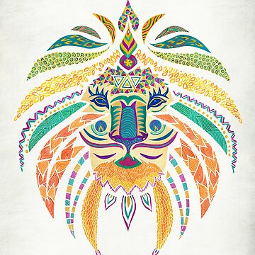 Whimsical Tribal Lion  by pamegallegos