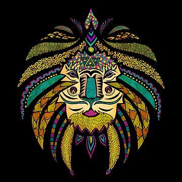 Emperor Tribal Lion Black by pamegallegos