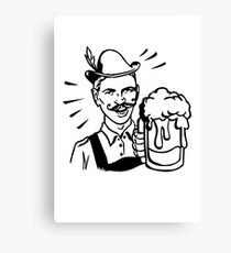 Retro Guy with Beer Canvas Print
