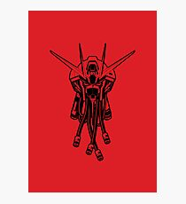 Gundam Black Photographic Print