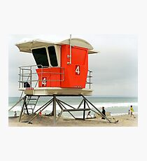 Lifeguard Station #4  Photographic Print