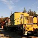 Yellow Old Train Wagon by MaluC