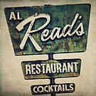 Al Read's Restaurant Vintage Sign by Honey Malek