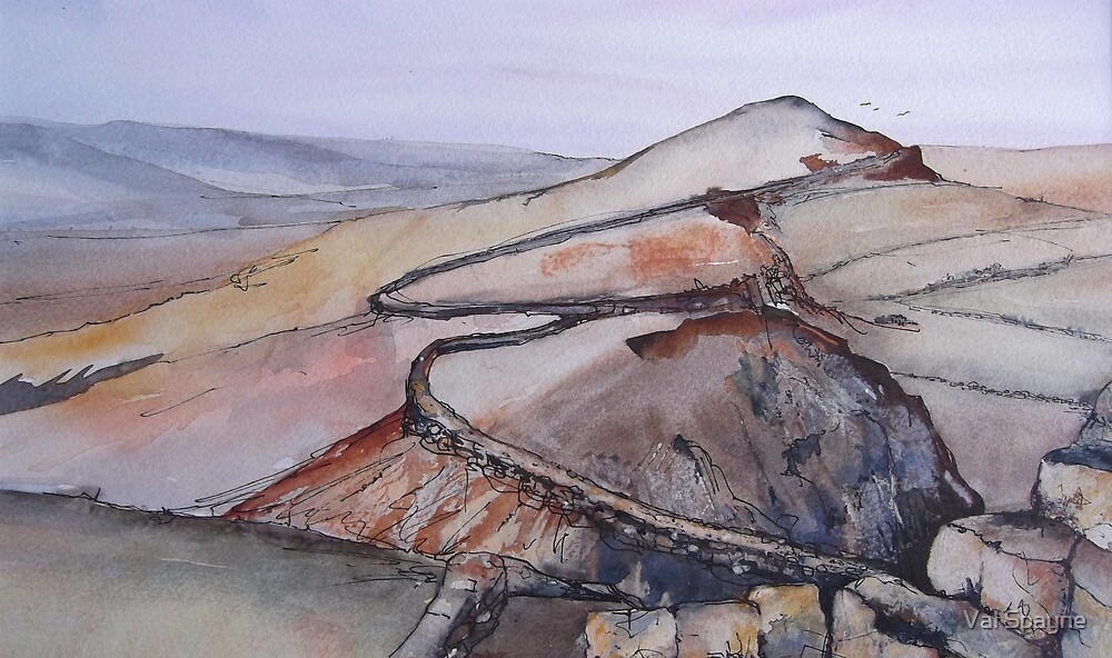 Hadrians Wall by Val Spayne