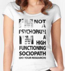Sherlock - I'm Not A Psychopath... Women's Fitted Scoop T-Shirt