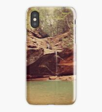 Falls at Old Mans Cave iPhone Case/Skin