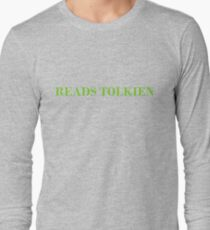 Reads Tolkien T-Shirt - CoolGirlTeez Long Sleeve T-Shirt