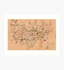 The Tube Vines Art Print