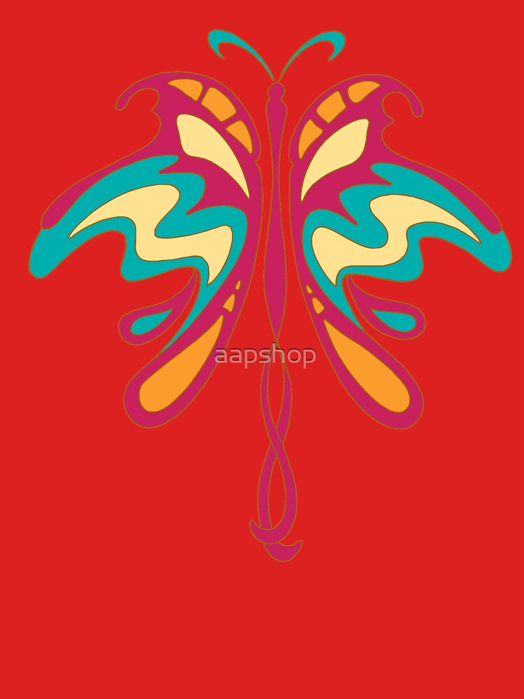 Colourful Art Nouveau butterfly by aapshop