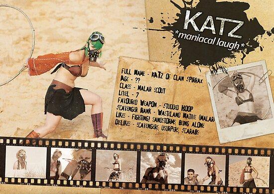 Katz Character Sheet (Scavengers Webseries) by Kenazz