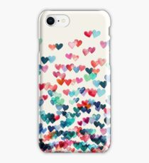 Heart Connections - Watercolor Painting iPhone Case/Skin