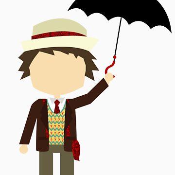 Seventh Doctor - Umbrella by dbowkercreative