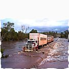 Truck Crossing Ord river by JuliaKHarwood