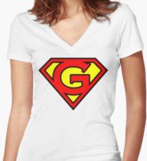 Super G Women's Fitted V-Neck T-Shirt