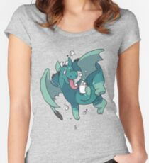 Cocoa Dragon Women's Fitted Scoop T-Shirt