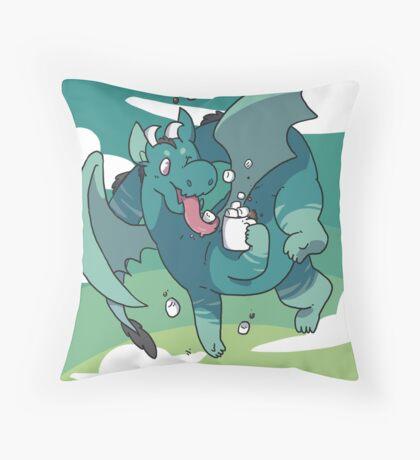 Cocoa Dragon Throw Pillow