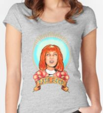 St. Leeloo of the Big Bada Boom Women's Fitted Scoop T-Shirt