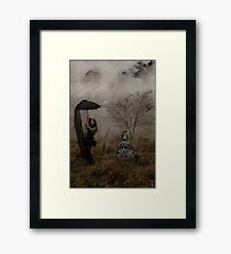 Taxi? Gothic Surrealism Framed Print