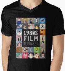 1980s Film Alphabet Tee Mens V-Neck T-Shirt