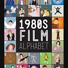 1980s Film Alphabet Tee by Stephen Wildish