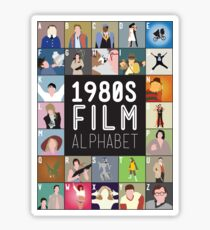 1980s Film Alphabet Tee Sticker