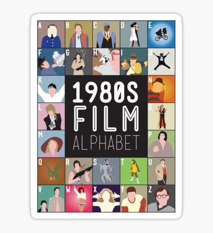 1980s Film Alphabet Tee Sticker