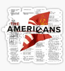 The Americans Sticker