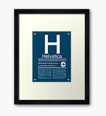 Helvetica Type Specimen Framed Print