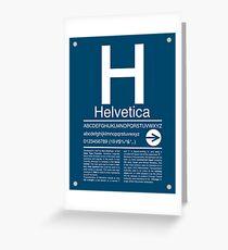 Helvetica Type Specimen Greeting Card