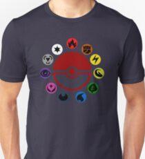 Pokemon TCG Types Slim Fit T-Shirt