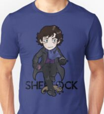 Sherlock Holmes, consulting detective and Otter with scarf. T-Shirt