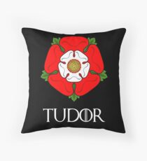 The House of Tudor - with text Throw Pillow