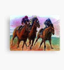 Thoroughbred Racehorse Racing Colors Leinwanddruck