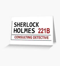 Sherlock Holmes Street Sign Greeting Card