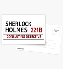 Sherlock Holmes Street Sign Postcards