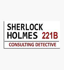 Sherlock Holmes Street Sign Photographic Print
