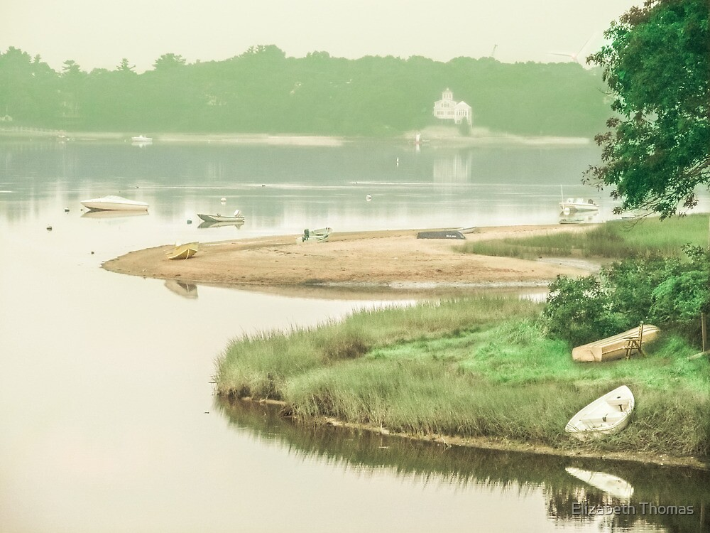 Tranquil Harbor, Wareham, Massachusetts by Elizabeth Thomas