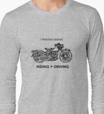 Motorcycle Cruiser Style Illustration Long Sleeve T-Shirt