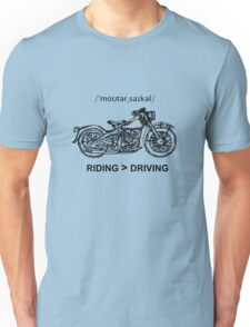 Motorcycle Cruiser Style Illustration Unisex T-Shirt