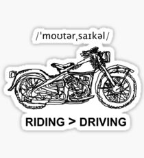 Motorcycle Cruiser Style Illustration Sticker