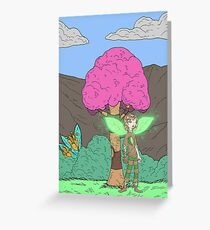 Eight Realms: Tanora the Wood Sprite... Greeting Card
