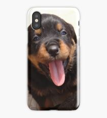 Cute Rottweiler Puppy With Tongue Out iPhone Case/Skin