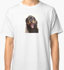 Cute Rottweiler Puppy With Tongue Out Classic T-Shirt