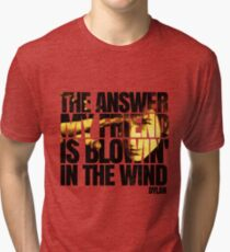 Bob Dylan blowin' in the wind  Tri-blend T-Shirt