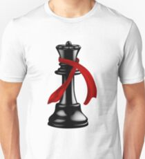 Black Chess Queen with a Fashion Scarf T-Shirt