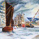 Arrival At The Hanse Sail Rostock by Barbara Pommerenke